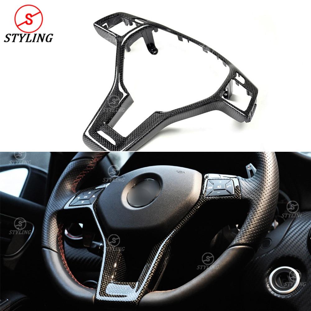 Pour Mercedes-benz AMG CLA W117 Carbone cache de volant Garniture intérieure W204 W176 W218 W207 W212 R172 Intérieur Garniture Remplacement 2011 +