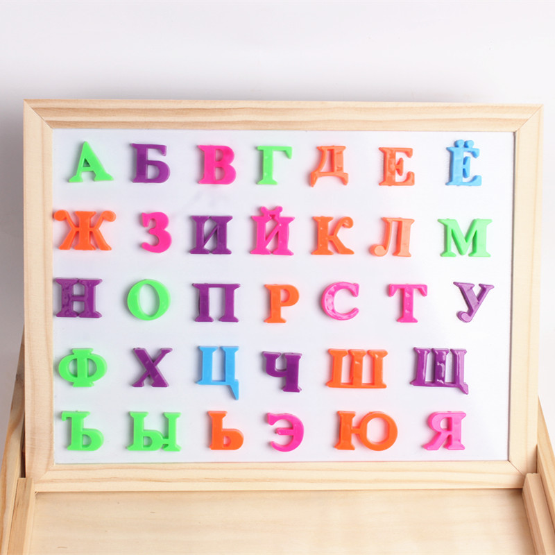 33pcs Russian Alphabet Magnetic Letters Baby Educational & Learning Toy Fridge Refrigerator Message Board For Baby