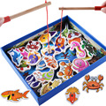 32 piece Baby Wooden magnetic toy fish Toy learning puzzle toys for kids children Puzzles Toy Birthday Gift