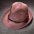 Вс Шляпы для Мужчин Панаме Лето Широкими Полями Соломенные Шляпы Женщин Sun Beach Cap Ковбой Мужская Соломенная Шляпа Пляж Джаз Открытый Вс шляпы