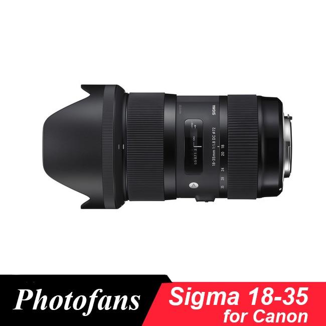 Sigma 18-35 lente para Canon 18-35mm f/1.8 DC HSM Art lente para Canon 700d 750d 760d 800d 60d 70d 80d 7d t5i t3i