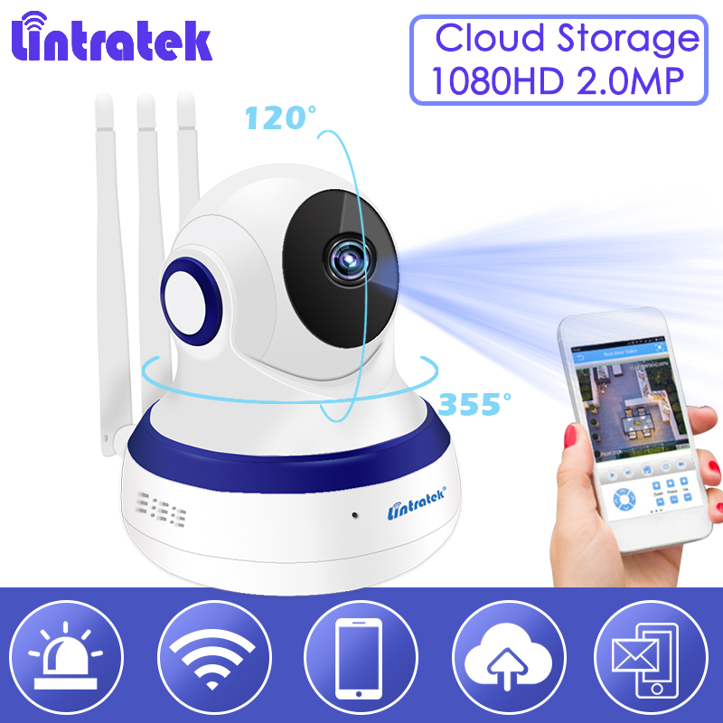 Lintratek Cloud Storage Wireless Wifi ip camera 1080P Tri Antenna 2-Way Audio Baby Monitor Home Security Surveillance Nanny S51 kerui 1080p cloud storage wifi ip camera surveillance camera 2 way audio activity alert smart webcam