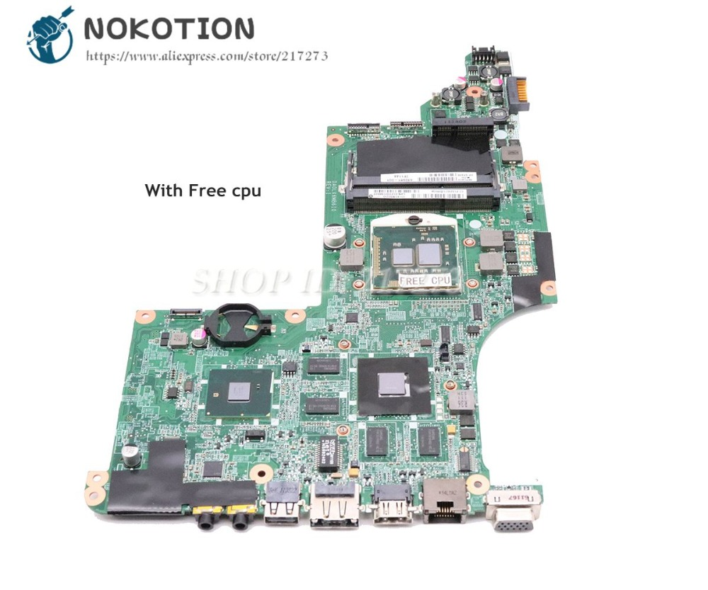 NOKOTION DA0LX6MB6F2 615308-001 630981-001 For HP Pavilion DV7 DV7T DV7-4000 Laptop Motherboard HM55 DDR3 HD5650M Free CPU