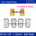 4Nuts+2Keys M12x1.5 Ball seat Wheel Locks Nut Anti theft Security Key Nut For the wheel of Honda CRV ACCORD XRV Crosstour