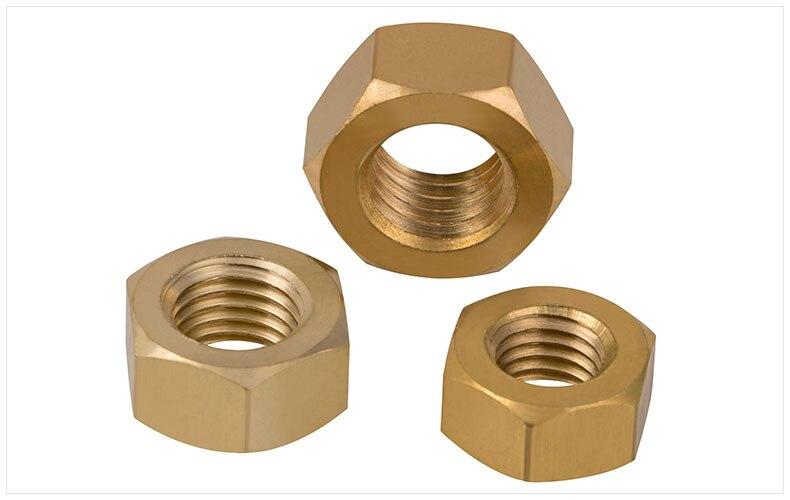 100pcs DIN934 M6 Brass Copper Nut  гайки оцинкованные м22 din 934 6 шт