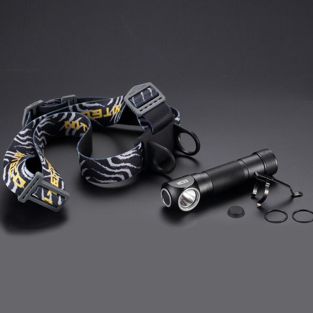 Top Des Ventes NITECORE HC33 1800 LMs CREE XHP35 HD LED Projecteur Étanche lampe de Poche Camping En Plein Air Voyage Chasse Sans Batterie