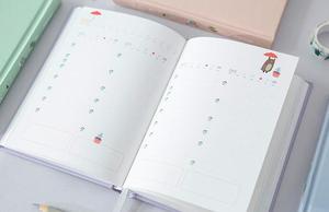 Image 4 - Koreańskie Kawaii uroczy kwiat terminarz tygodniowy miesięczny roczny planer organizer notatnik Kawaii Agenda 2019 sklep papierniczy