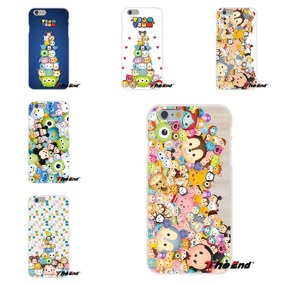 Cartoon Tsum Tsum Mickey Minnie For iPhone X 4 4S 5 5S 5C SE 6 6S