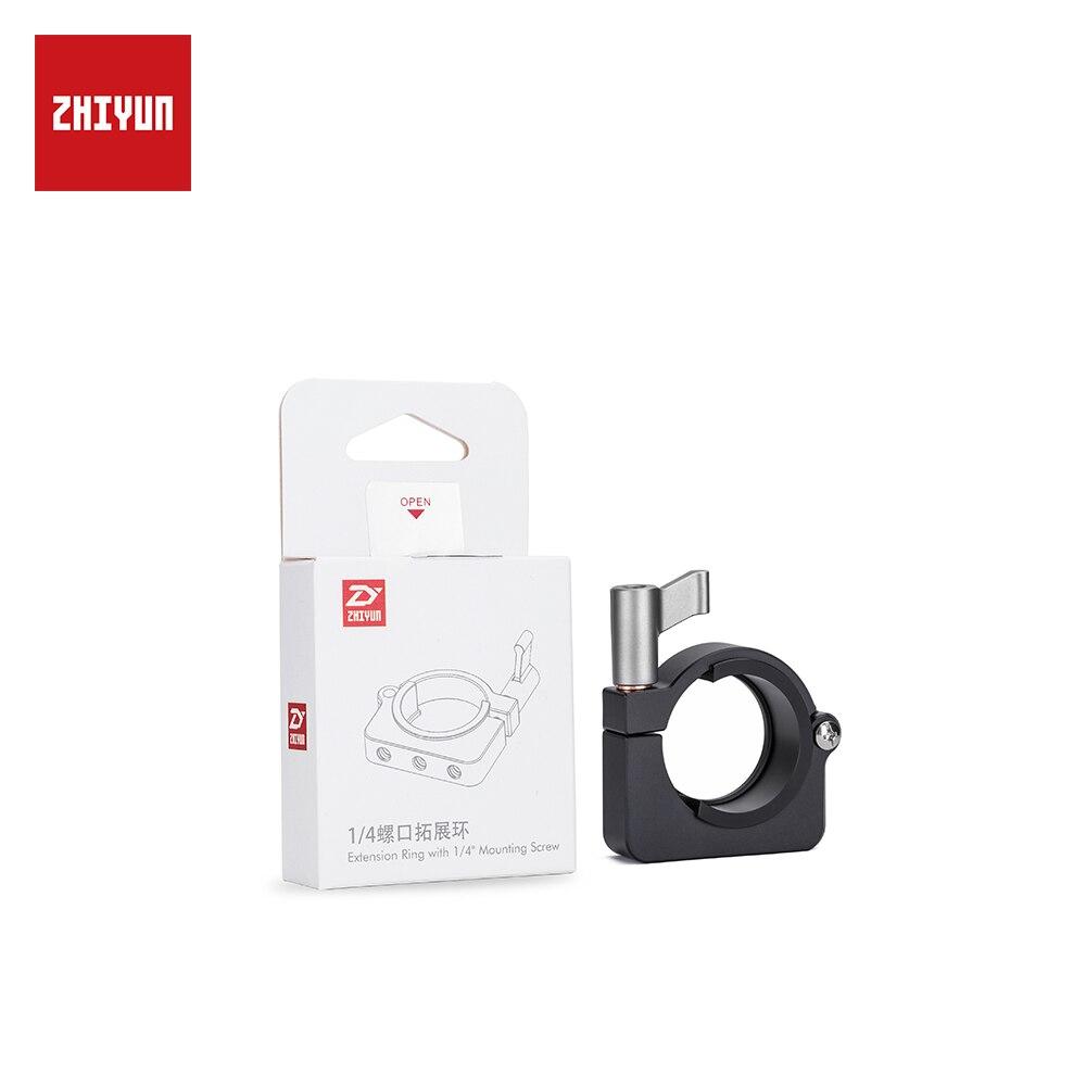 ZHIYUN oficial extensión anillo con tres agujeros de tornillo de 1/4 pulgadas para Zhiyun grúa más V2 crane-m suave 3 handheld Gimbal