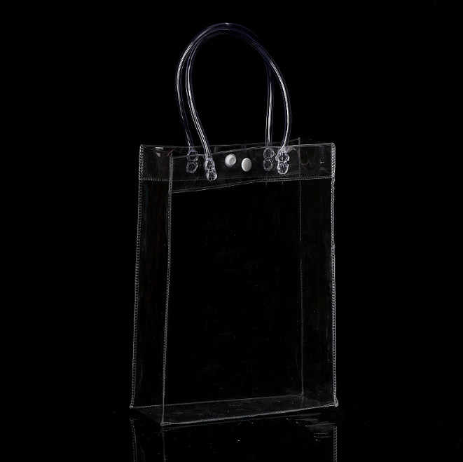 3ebe20c79564 1PC Fashion Women Clear Transparent Shopping bag Tote New Beach Bag Handbag  Recycling Pack Solid Large Bucket For Women men