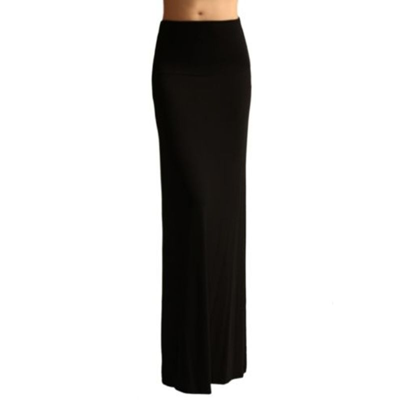 Ladies Women High Waist Flare Fishtail Maxi Long Skirt Solid Color Pleated Package Hip Evening Beach Party A-Line Pencil Skrit