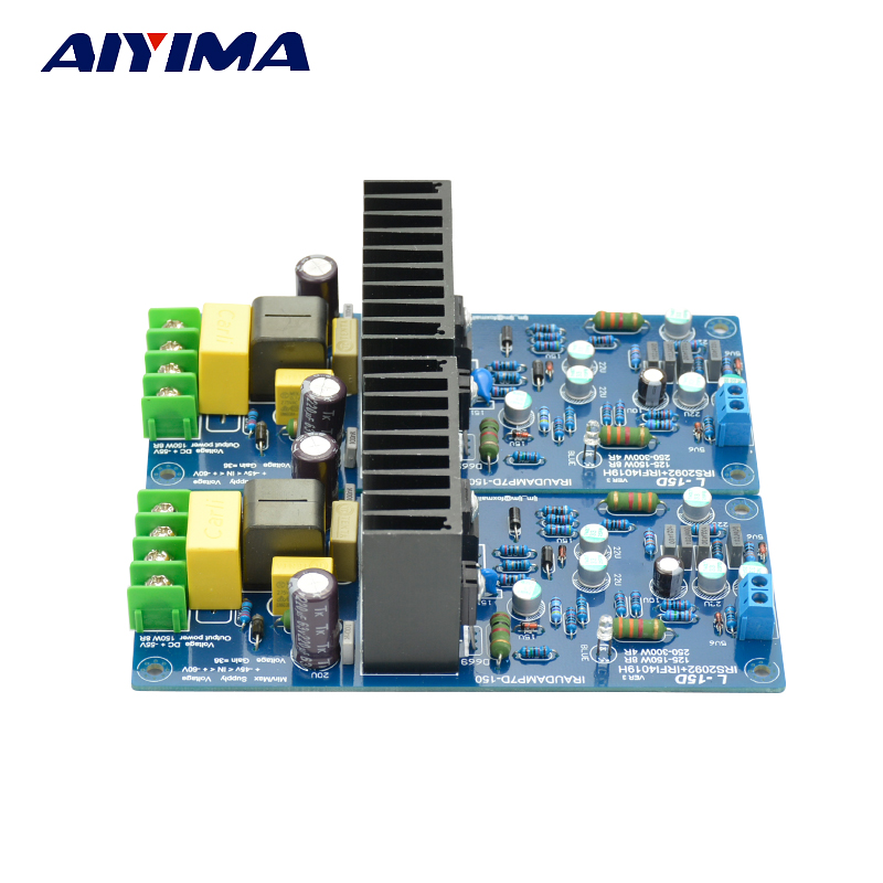 Aiyma 2 шт. в сборе L15D Amplfiier плата цифровой аудио усилитель мощности комплект IRS2092 IRFI4019H