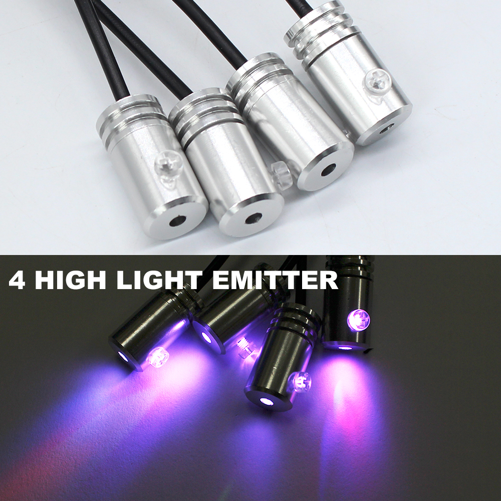 RGB Ambient Light 8 Colors DIY Atmosphere Lamp Light Car Interior 1 5W LED For Car Optical Fiber Decorative Remote Control Lamp in Decorative Lamp from Automobiles Motorcycles