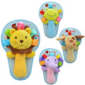 Macio animal pupper com andebol chocalhos recém-nascidos do bebê carrinhos para bonecos de pelúcia bonito vara newborn toys -- dbyc024 pt15