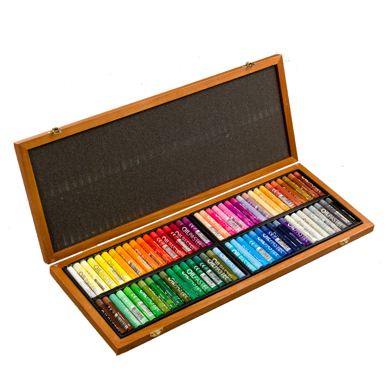 MUNGYO 72 color fine wooden box in the thick crayon children graffiti dedicated oil painting stick