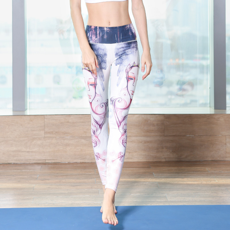 New printed Yoga Pants sport outdoor underwear leisure fitness yoga suit in Yoga Pants from Sports Entertainment