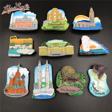 Creative Famous Landmark Metal Refrigerator Stickers Magnetic Country Decorative 3D Fridge Magnet