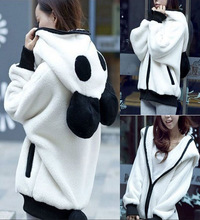 Zogaa 2019 Hot Sale Creative Design Cute Bear Ear Panda Shape Winter Warm Hoodie Coat Zipper Fleece Women Hooded Jacket