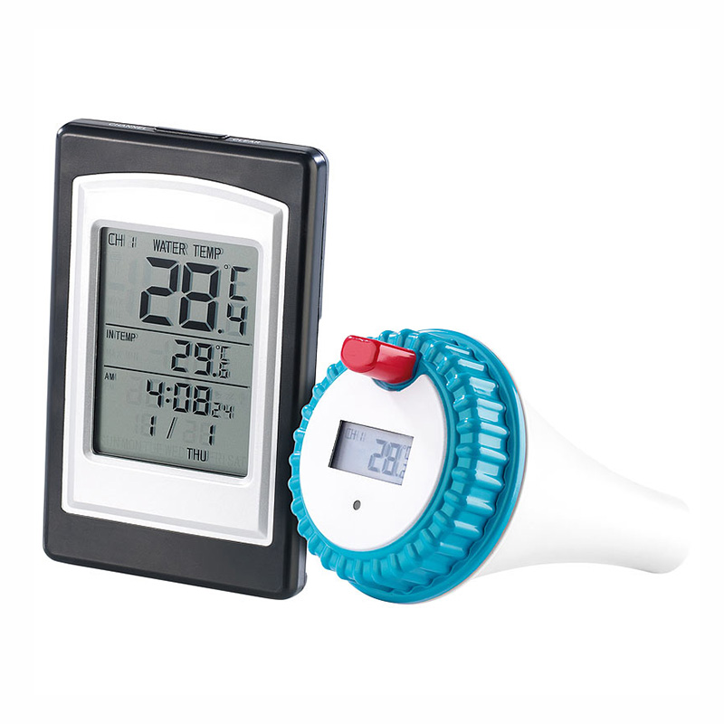 Wireless Thermometer In Swimming Pool Spa Hot Tub Waterproof Thermometer with Large LED Display --M25
