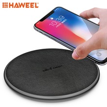 HAWEEL Round 10W Fast Charging Qi Wireless Charger Pad, For iPhone, Galaxy, Huawei, Xiaomi, LG, HTC and Other Smart Phones