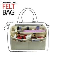 Fits Estrela,Duomohobo Felt Purse Organizer Bag in Bag For Tote Handbag Speedy25 30 35 40Neverfull MM PM w/Detachable Zip Pocket