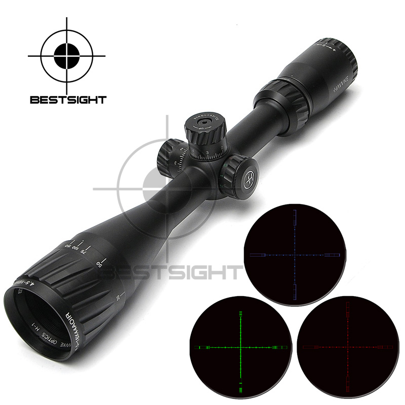 Hawke 4.5-18X44 AOIR Optical Riflescope Red &Green&Blue Illuminated Scope Reticle Rifles  Hunting Scopes For Airsoft Pistola 4x magnifier scope fts flip to side for aimpoint or similar scopes sights for airsoft hunting