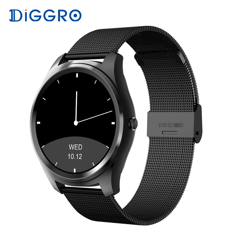 Diggro DI03 Astuto Della Vigilanza MTK2502C IP67 Impermeabile Monitor di Frequenza Cardiaca di Telecomando Della Macchina Fotografica Messaggio Push Smartwatch IOS Android