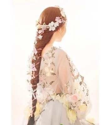 US $479 0 |2015 Customize flower A line Wedding dress V neck Wedding gowns  pretty princess flower faerie bridal gowns fairy rose dress-in Wedding