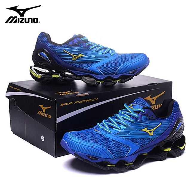 НОВЫЙ Mizuno Wave Prophecy 5 профессиональный спорт Мужская обувь открытый синий мужские кроссовки 9908 Вес подъема обувь Размер 40-45