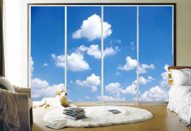 Stickers Per Ante Armadio.Customized 60x100cm Decorative Blue Sky Wardrobe Sliding Door Sticker Self Adhesive Static Cling Opaque Translucent Window Film Sticker Machine Film Adaptationfilm Activator Aliexpress