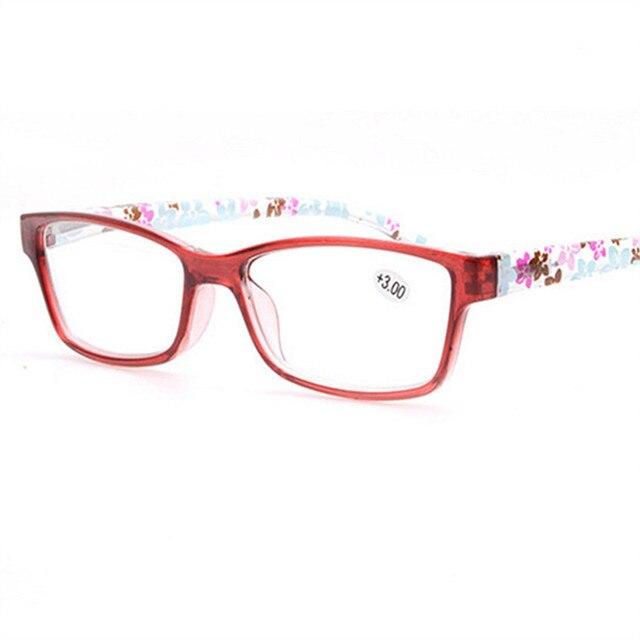 NYWOOH Women Reading Glasses Men Unbreakable Ultralight Eyeglasses Anti Fatigue Flower Temple Presbyopic Magnifier