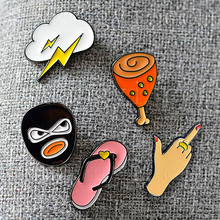 Robber slippers chicken pins,fashion lightning brooch leg cute wholesale jewelry shipping