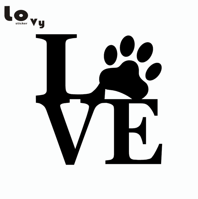 US $0 9 |Cute Love Dog Paw Print Wall Stickers Cartoon Animal Vinyl Wall  Decals for Kids Rooms Bedroom Home Decor-in Wall Stickers from Home &  Garden