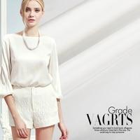 White silk cotton satin fabric 23mm silk satin fabric drapery smooth dress dress silk fabric wholesale cotton cloth