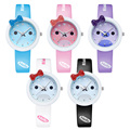 Hot Sale Lovely Baby Bear Children Fashion Cartoon Quartz Watch Candy Color Casual Leather Band Kids and Girls Gift (WJ-5701)