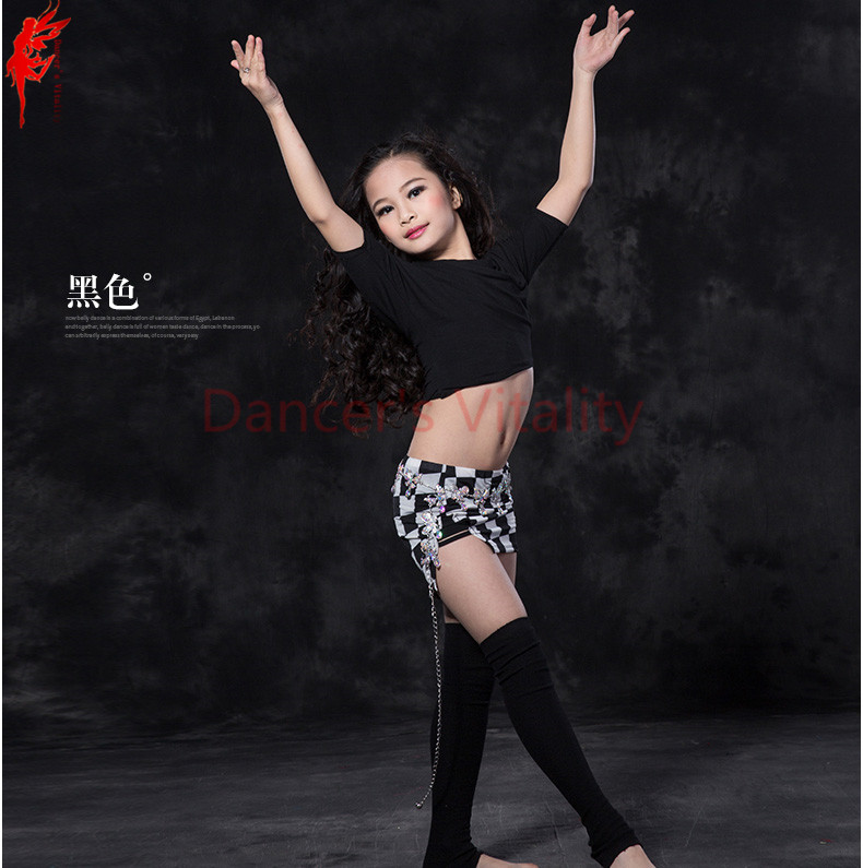 Girls belly dancing clothes modal half sleeves top+short skirt 2pcs belly dance set for girls belly dance clothes S/M/L dance