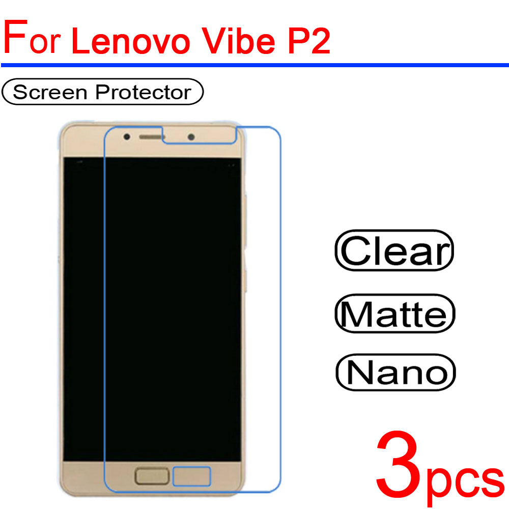 Guard-Cover Lcd-Screen-Protector Lenovo Vibe Soft Ultra Protective-Film for P1 P2 3pcs