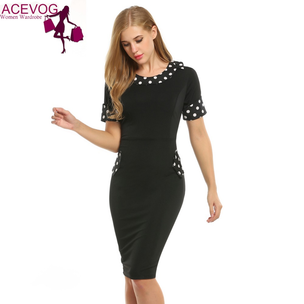 ACEVOG Summer 2017 New Button Dress Women Doll Collar