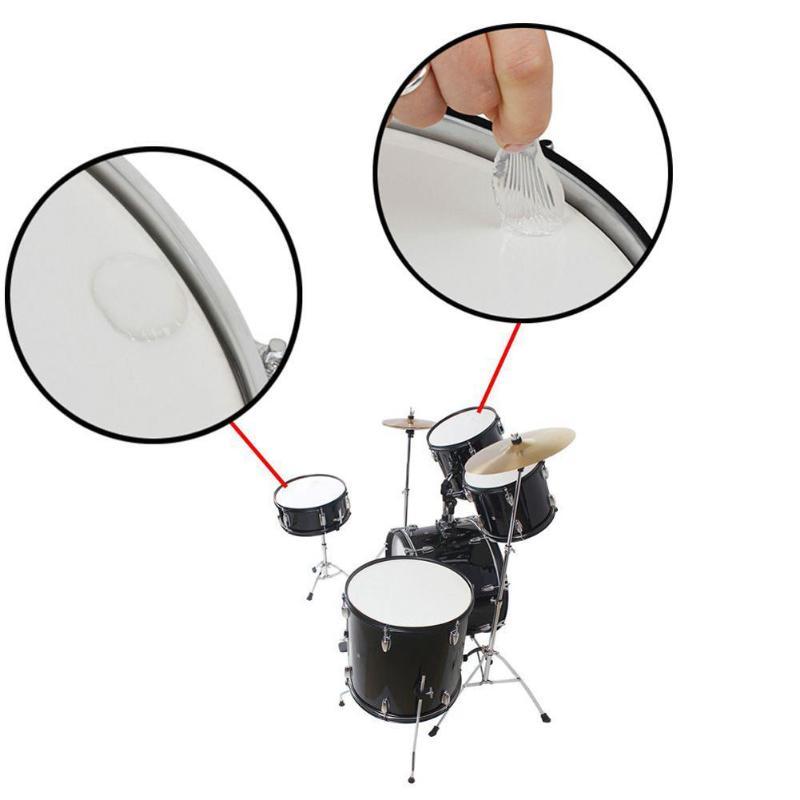 6pcs set snare drum mute pad drum damper gel pads snare drum muffler mute transparent percussion. Black Bedroom Furniture Sets. Home Design Ideas