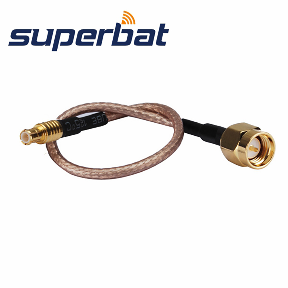 Superbat RF Coaxial MCX Straight Plug Male To SMA Straight Plug Male Cable RG316 20cm For Wireless