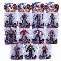 Marvel Legends Avengers Civil War Captain America Iron Man Black Widow Black Panther Scarlet Witch Ant Man PVC Action Figure Toy