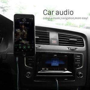 Image 5 - HOCO 3.5mm Jack câble Audio plaqué or Jack 3.5mm mâle à mâle câble Aux avec Microphone micro pour iPhone voiture casque haut parleur