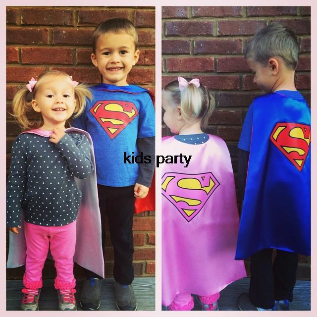 Batman Superman Wonder Woman Superhero Children's Cape Mask Costume Cosplay