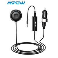 Mpow MBR2 Bluetooth Car Kit Hands Free Calling Streambot Audio Receiver Wireless Stereo Receiver With Car Charger Noise Isolator