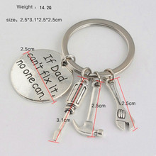 """If Dad Can't Fix It No One Can"" Hand Tools Keychain Daddy Keyring Birthday Gift For Dad Father's Day Father Key Chains"