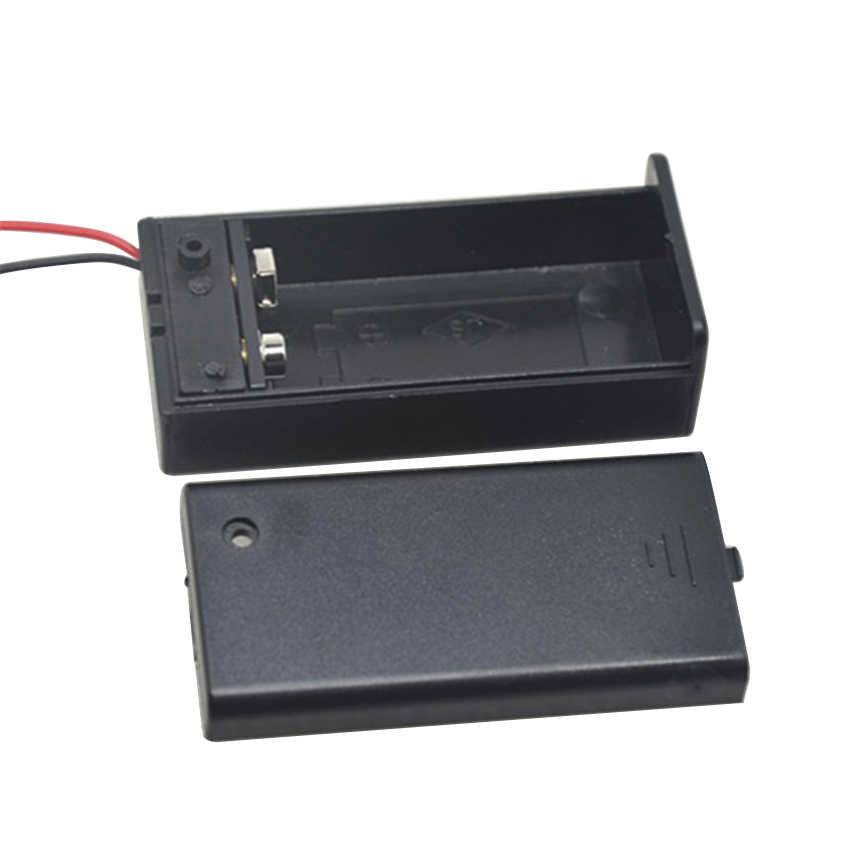 9V Battery Case Holder Box con Cavo ON/OFF Copertura Caso