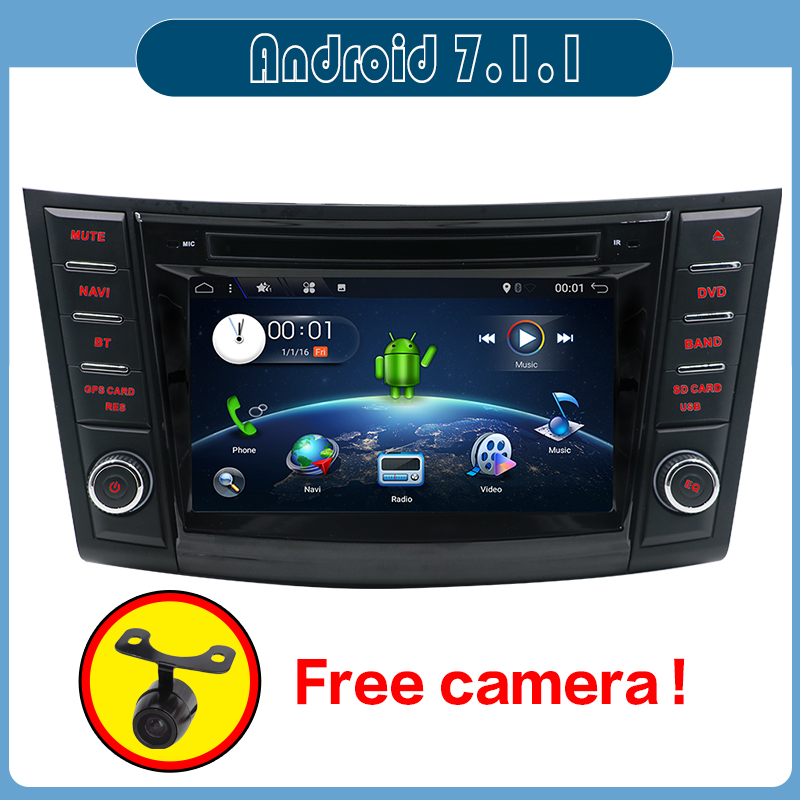 "7"" HD Android Car DVD For Suzuki Swift 2011 2012 2013 2014 2015 Auto Radio FM RDS Stereo Audio Video GPS Navigation Backup Cam"