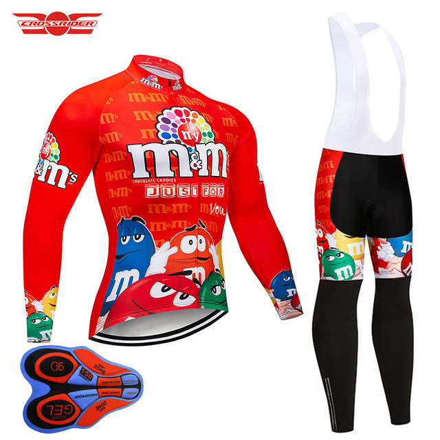 fc15ccb06 Crossrider Funny Long Sleeve Cycling Jersey Set Breathable Mountain Bike  Clothing MTB Bicycle Clothes Wear Ropa Maillot Ciclismo