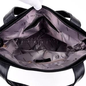Image 5 - Womens handbags fashion Messenger bag luxury ladies bag designer high quality leather shoulder bag 2019 durable solid color