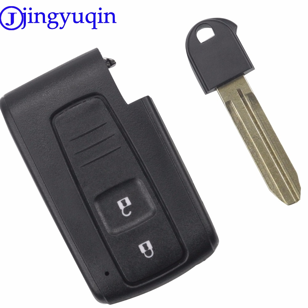 jingyuqin Good Quality 2 Buttons Remote Smart Car Key Case Cover For Toyota Prius Corolla Verso Toy43 Uncut Blade